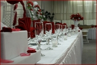 Quinceanera Table Setting by baycityevents.com